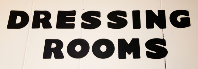 Dressing Rooms Sign at Rubber Soul