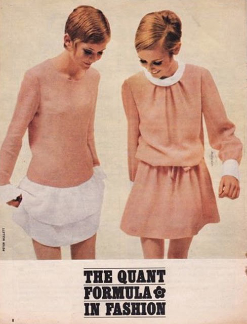 Twiggy poses for Mary Quant advertisement in the Swinging '60s!