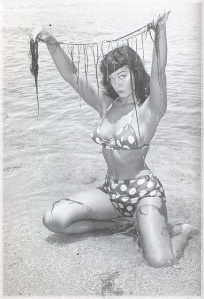 Betty Page Posing on the Beach