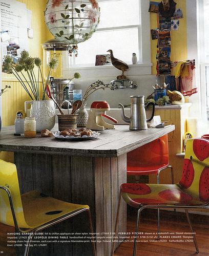 Anthropologie Kitchen Design in a 2007 Catalogue