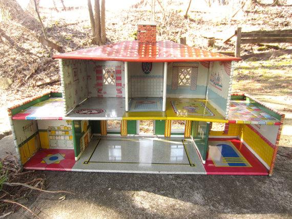 Vintage 1950s T. Cohn Dollhouse
