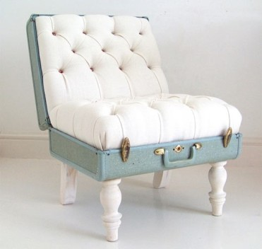 Suitcase made into a chair
