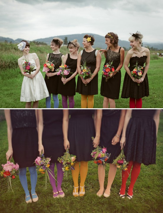 vintage wedding party tights